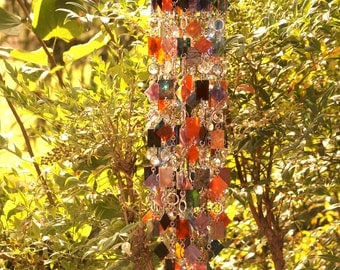 Orion's Abstract Glass Wind Chime, Suncatcher, Gift For Her, Anniversary, Birthday, Wedding, Housewarming, Garden Art, One Of A Kind