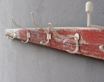 Oar Coat Rack, Vintage Oar, Organizer Rack, Towel Holder, Boatwood, Driftwood, Nautical Beach Home Decor