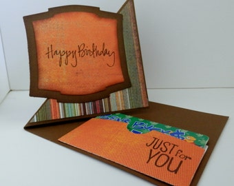 Greeting Card Happy Birthday Pop Up Fun Fold With Gift Card
