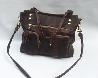 5 pocket Willow bag in antique walnut brown