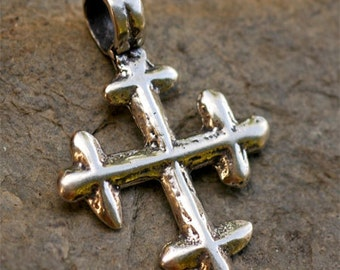 Coptic Cross Sterling Silver Pendant, pc53