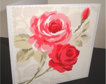 Roses Card Notelet Blank Greetings Card