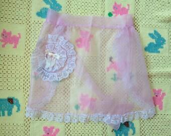 1950s Pink Apron