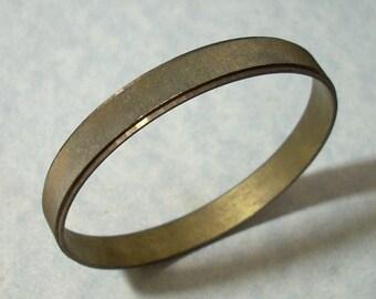 Vintage Brass Cuff Bracelet 9 inch Bangle Bracelet