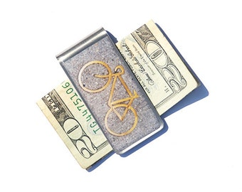 MONEY CLIP - Bike Money Clip, NYC Money Clip, Bike, Bike Gifts, Father's Day