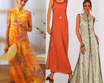 Sewing Pattern Butterick 3771 Misses' Asian Inspired Evening Dress Size 14-16-18 Bust 36-40 inches Uncut Complete