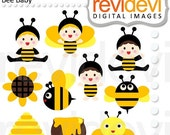 60% OFF SALE Bee Baby 07453.. Digital cliparts