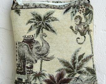 Summer Cross Body Bag Monkey Elephant Sling Crossbody Shoulder Purse Jungle Handbag Small Travel Pocketbook Gift for Her