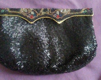 Vintage Delill Beaded Evening Bag