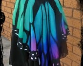 Butterfly Wing and Chiffon Pixie Skirt - Custom made in any size - Festival Tribal Fantasy Burlesque Costume Belly Dance EDC Rave Plus