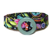 Bird D-ring Belt- Womens Fabric Belt- Colorful Ribbon Belt- Wide Belt- Skinny Waist Belt- sized for teens women and plus size ladies
