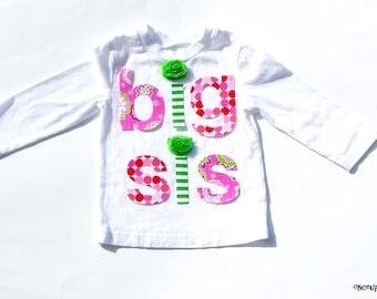 lil sis .... mid sis ... big  sis ....Fabric Iron On Appliques