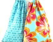 Fabric Bags 2-Travel Bag-Gym Bag-Fabric Gift Bag-Laundry Bag-Floral