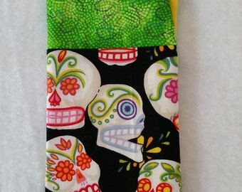 Day of the Dead Glasses Sunglasses Case, Skulls Calaveras
