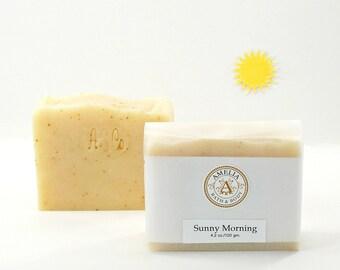 Sunny Morning Soap | Essential Oil Soap, Citrus Soap, Cold Process Soap, All Natural Gift Soap, Fresh Start, Scented Soap Gift Idea