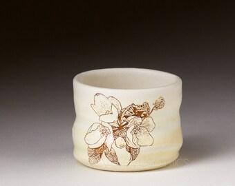 Ceramic Sake Soju Seju Bar Ware - Stoneware Shot Glass - Ceramic Shot Cup - Barware - Shooter - Toothpick Holder - Votive Candle Holder