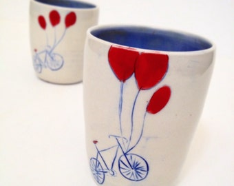 Bike And Ballons tumbler - Made to Order