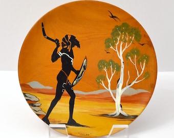 Australia Aboriginal Bill T. Onus Wooden Plate