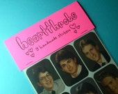 heartthrobs handmade sticker set