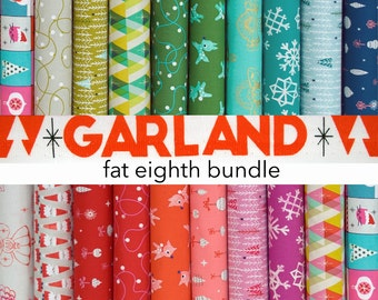Garland Fat Eighth Fabric INCOMPLETE Bundle, please read details - Garland Collection by Cotton + Steel Fabrics - 18 of 19 quilting cottons