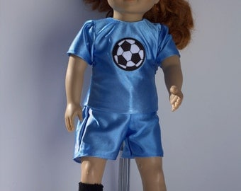 Soccer uniform with accessories