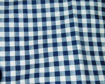 Blue Gingham Home Dec Fabric Drapery Weight Navy 11889