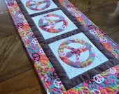 SALE Peace Sign Tablerunner