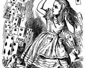 Vintage Alice in Wonderland black and white digital download image - GreatMusings No.0048