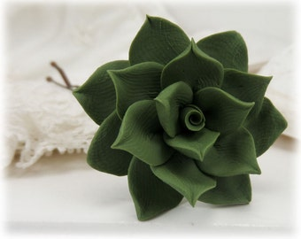 Succulent Hair Clip Pin - Succulent Hair Flower
