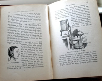 Vintage 1907 Nursing Book, Medical Charts, Anatomy Illustrations, Gray's Anatomy Style
