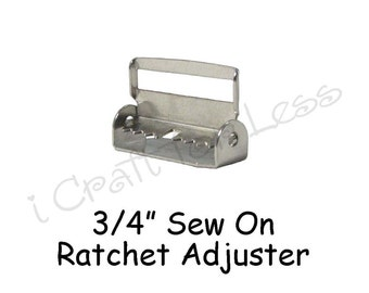 "25 - 3/4"" Suspender Slide Adjusters / Ratchet Slides with Teeth - Nickel Plated - SEE COUPON"
