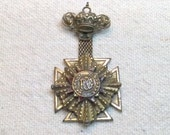 P.O.G. Provincial Old Older Masonic Maltese Fraternal Pin, Award Pin
