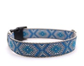 "1"" Dog Collar Hotel Budapest buckle or martingale collar"