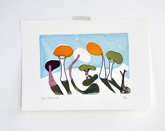 art gocco screen print - Friendship
