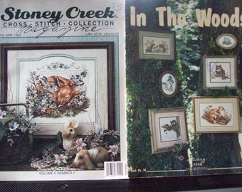 Set of 2 Pattern Booklets,Patterns,Cross Stitch,Stoney Creek,Crafts,Supplies