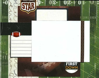 Football Star - Premade Scrapbook Page
