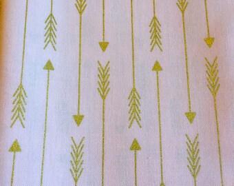 Custom Metallic Gold Arrows on Blush Crib Sheet Nursery Bedding READY To SHIP