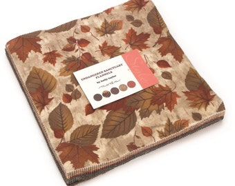 """Endangered Santuary Flannel Moda Layer Cake, 42 - 10"""" precut fabric quilt squares by Holly Taylor"""