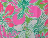 "lilly pulitzer's 2016 cluck poplin cotton fabric square 18""x18"""