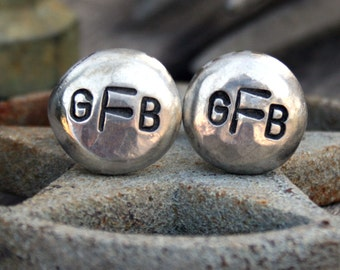 Custom Cuff Links - Personalized Cufflinks - Monogram
