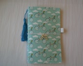 Fauxdori - Riley Blake Bicycle Fabric -  Midori Style Travelers Notebook With Inserts - Planner - Fabric