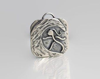 Surfer Gift Idea - Sterling Pendant - Surfer Jewelry - Outdoor Womens Fashion