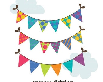 Party Bunting  Clip art -   Party Banners