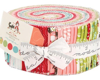 """Moda LIL RED Jelly Roll 2.5"""" Precut Fabric Quilting Cotton Strips Stacey Iset HSU 20500JR"""
