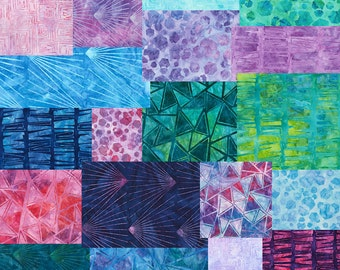 "SQ14 Robert Kaufman Graphic Elements Batiks Precut 5"" Charm Pack Fabric Quilting Cotton Squares Lunn Studios CHS-471-42"
