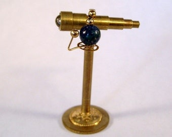 Miniature Medieval Telescope with Orrery