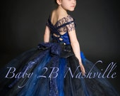 Blue Flower Girl Dress Ro...