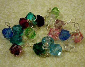 Swarovski Crystals Birthstones Charm - Crystal-Shaped - Add Ons