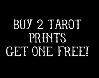 Tarot Print Bundles Buy 2 Get 1 Free, Buy 2 Tarot Prints Get 1 Free