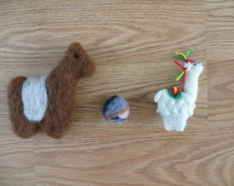 Felted Cat Toys Alpaca Wool and Catnip